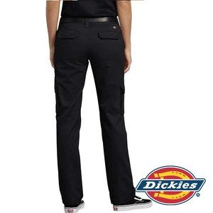Dickies Women's Relaxed Fit Stretch Cargo Black 4